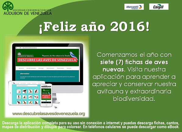 Descarga la aplicación gratuita para conocer las Aves de Venezuela